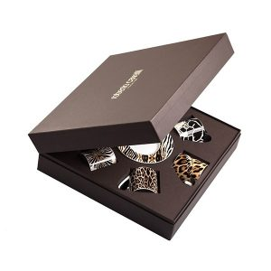 Image of Roberto Cavalli 6 piece coffee cup and saucer espresso luxury set