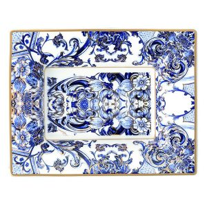 Image of Roberto Cavalli Azulejos Large Rectangular Tray
