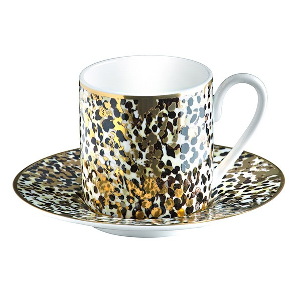 Image of Roberto Cavalli Camouflage Coffee Cup & Saucer