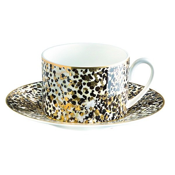 Image of Roberto Cavalli Camouflage Tea Cup & Saucer