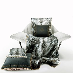Image of Roberto Cavalli Cinci Silk Cushion