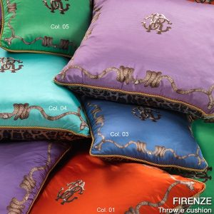 Image of Roberto Cavalli Firenze Silk Cushion