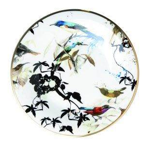 Image of Roberto Cavalli Garden Birds Bread and Butter Plate