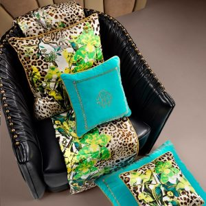 Image of Roberto Cavalli Giungla Silk Cushion
