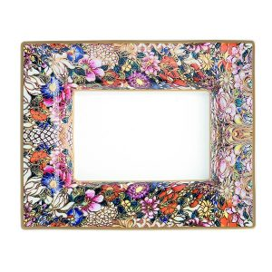Image of Roberto Cavalli Golden Flowers Large Rectangular Tray