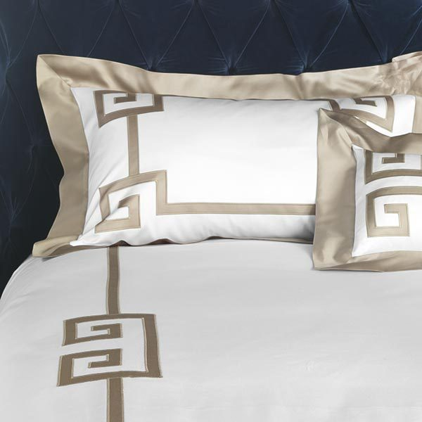 Image of Gianfranco Ferrè Greek Key Duvet Set