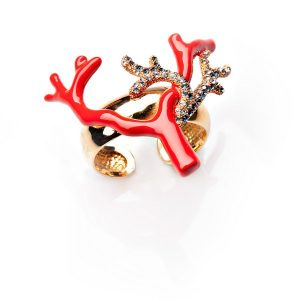 Image of Roberto Cavalli Jewels Coral Napkin Holder