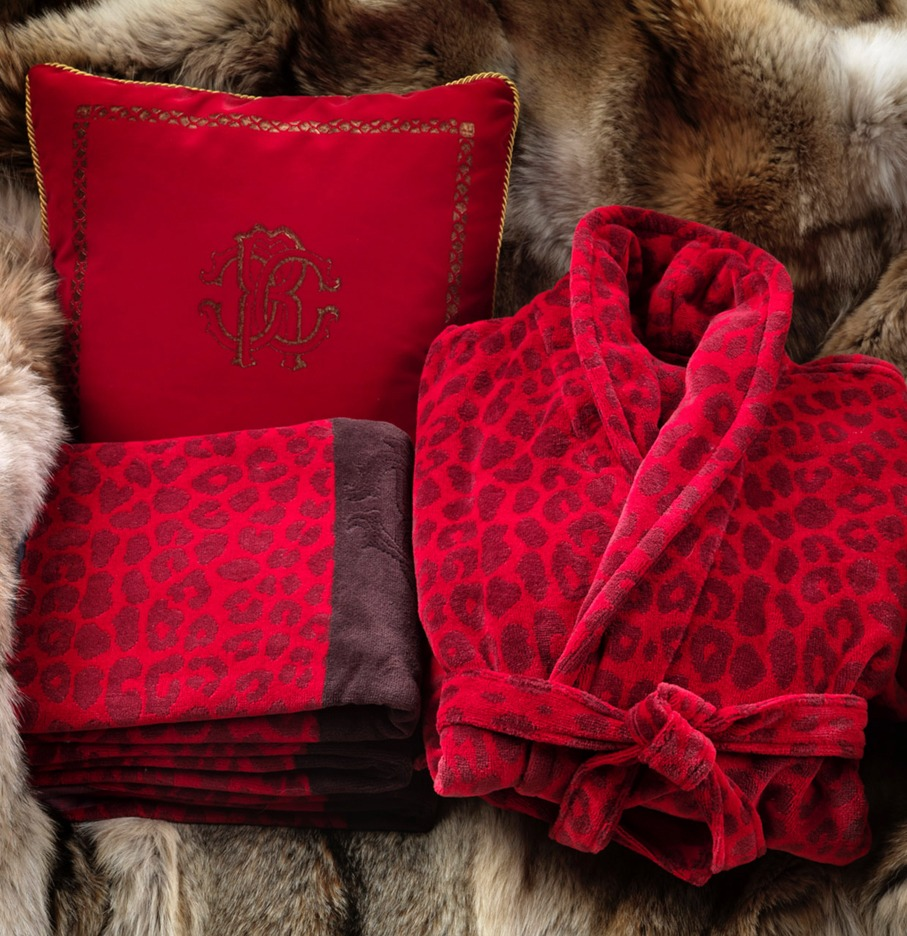 Image of Roberto Cavalli Leo Hooded Bathrobe