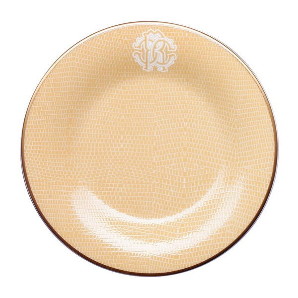 Image of Roberto Cavalli Lizzard Gold Bread and Butter Plate