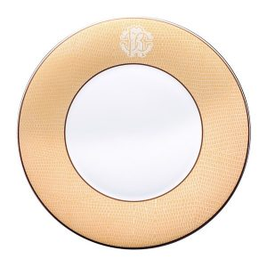 Image of Roberto Cavalli Lizzard Gold Charger Plate