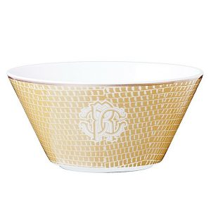 Image of Roberto Cavalli Lizzard Gold Fruit Bowl