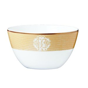 Image of Roberto Cavalli Lizzard Gold Rice Bowl