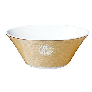 Image of Roberto Cavalli Lizzard Gold Salad Bowl
