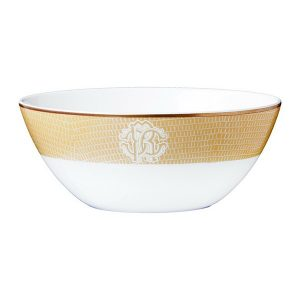 Image of Roberto Cavalli Lizzard Gold Soup Bowl