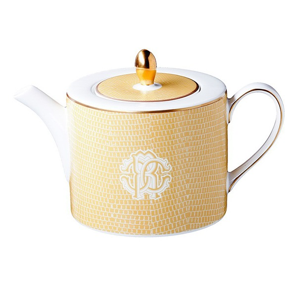 Image of Roberto Cavalli Lizzard Gold Tea & Coffee Pot