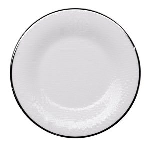 Image of Roberto Cavalli Lizzard Platinum Bread and Butter Plate