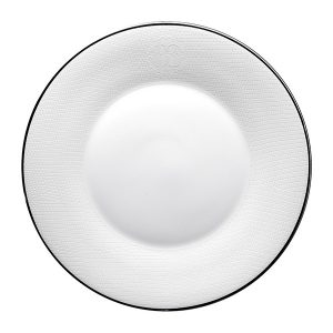 Image of Roberto Cavalli Lizzard Platinum Soup Plate