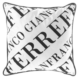 Image of Gianfranco Ferrè Logo Bold Cushion