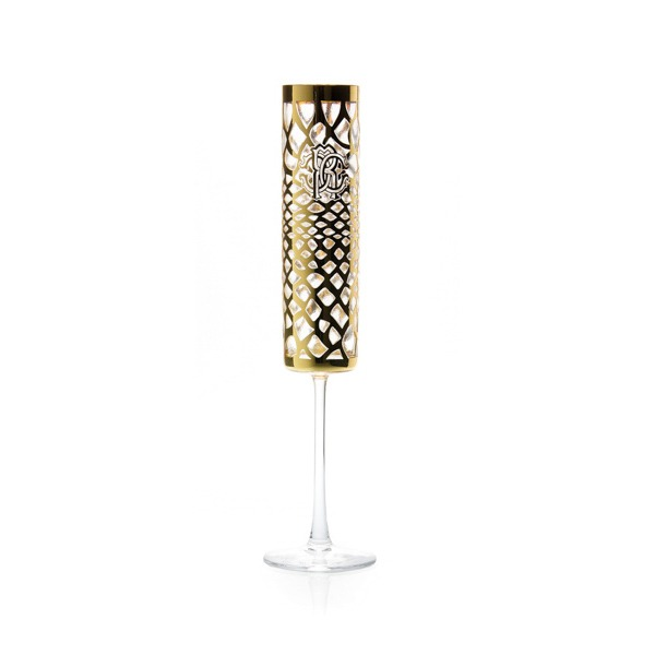 Image of Roberto Cavalli Marrakech 2 Piece Champagne Goblet Set