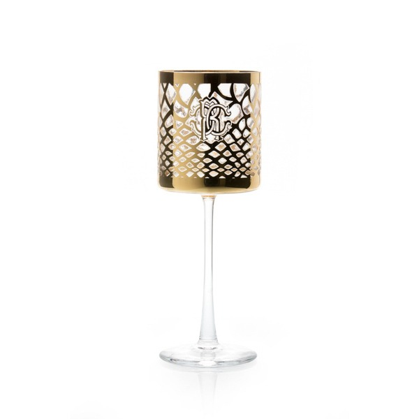 Image of Roberto Cavalli Marrakech Two Piece Wine Goblet Set