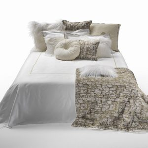 Image of Roberto Cavalli New Gold Duvet Cover Set in White