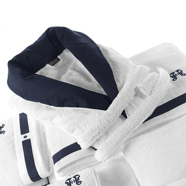 Image of GIanfranco Ferrè Navy Bathrobe