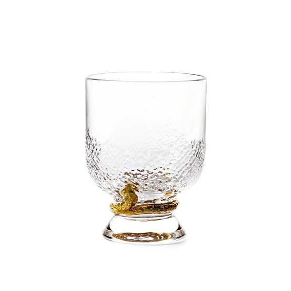 Image of Roberto Cavalli Python Gold Water Glass
