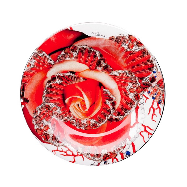 Image of Roberto Cavalli Rose Jewel Bread or Butter Plate