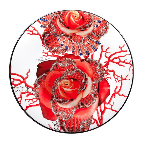 Image of Roberto Cavalli Rose Jewel Charger Plate