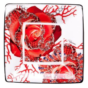 Image of Roberto Cavalli Rose Jewel Square Tray