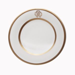 Image of Roberto Cavalli Silk Gold Bread or Butter Plate