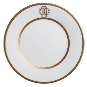 Image of Roberto Cavalli Silk Gold Charger Plate