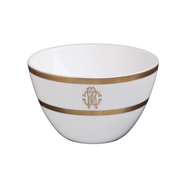 Image of Roberto Cavalli Silk Gold Rice Bowl