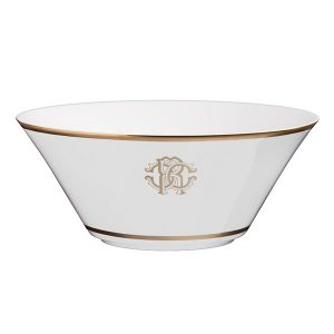 Image of Roberto Cavalli Silk Gold Salad Bowl