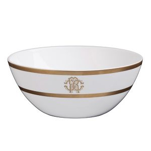 Image of Roberto Cavalli Silk Gold Soup Bowl