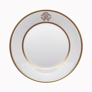 Image of Roberto Cavalli Silk Gold Soup Plate