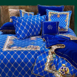 Roberto Cavalli Spider Duvet Cover Set in Blue