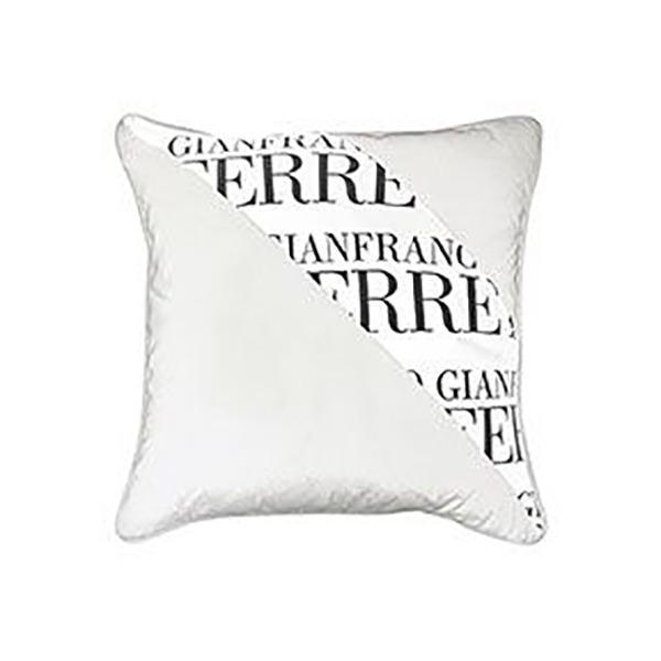 Image of Gianfranco Ferrè Striped Logo Cushion