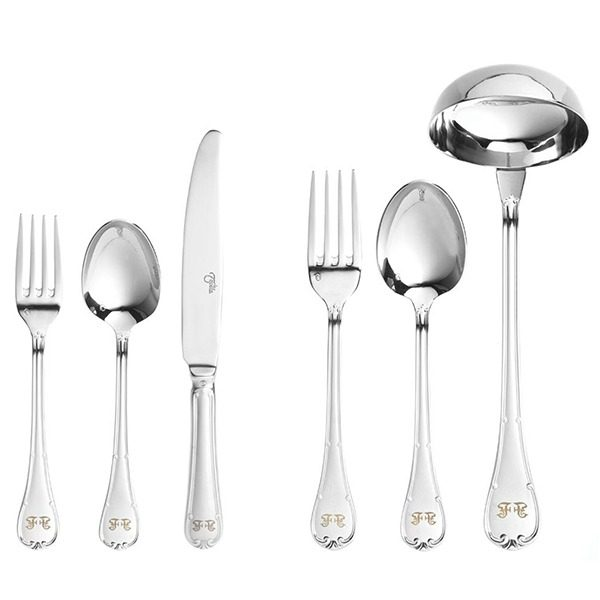 Image of Gianfranco Ferre Tosca Cutlery Set, 12 Persons, 87 Pieces