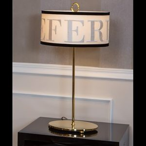 Image of Gianfranco Ferrè CINDY TABLE LAMP WITH SHADE AND LOGO
